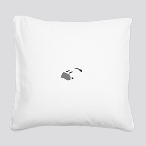 Aviation Broke White Text Square Canvas Pillow