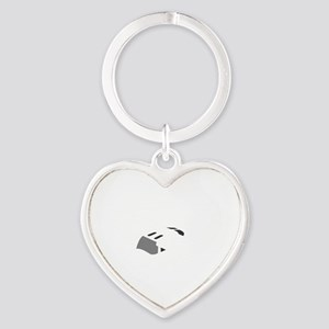 Aviation Broke White Text Heart Keychain