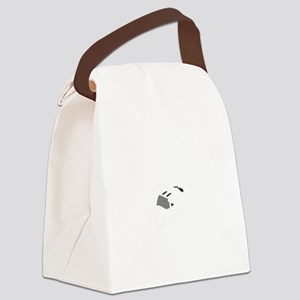 Aviation Broke White Text Canvas Lunch Bag