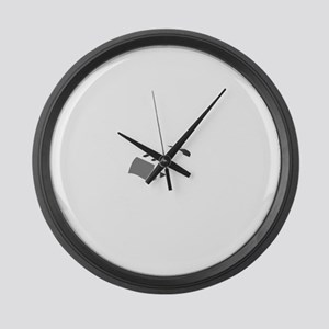 Aviation Broke White Text Large Wall Clock