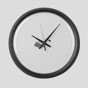 Aviation Broke White Text Large Wall Clock