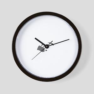 Aviation Broke White Text Wall Clock