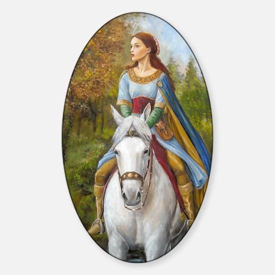 marian fin Sticker (Oval)