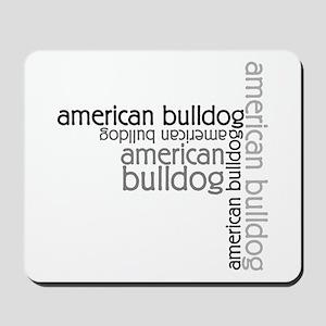 American Bulldog Dog Breed Mousepad
