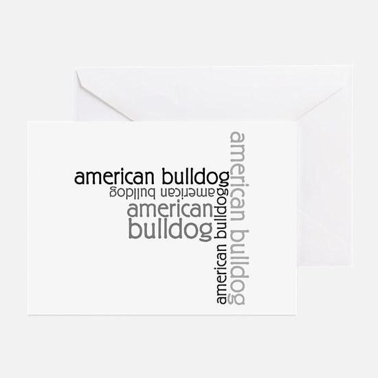 American Bulldog Dog Breed Greeting Cards (Pk of 1
