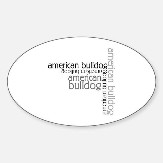 American Bulldog Dog Breed Oval Decal