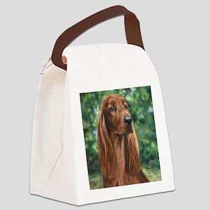 Irish_Setter_M Canvas Lunch Bag