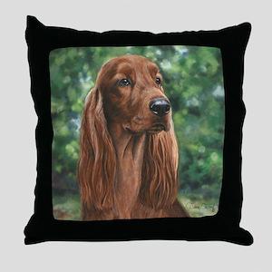 Irish_Setter_M Throw Pillow