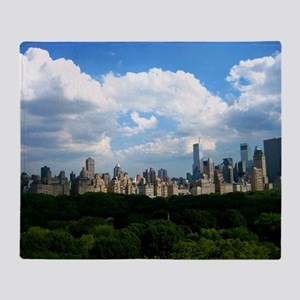 New York Skyline Above Central Park Throw Blanket