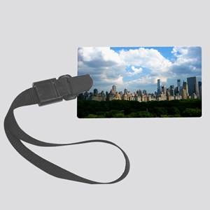 New York Skyline Above Central P Large Luggage Tag