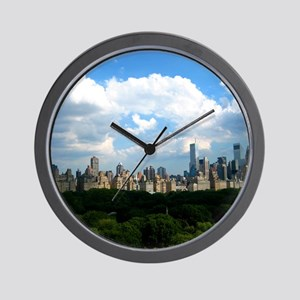 New York Skyline Above Central Park Wall Clock
