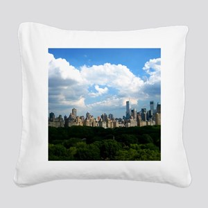 New York Skyline Above Centra Square Canvas Pillow