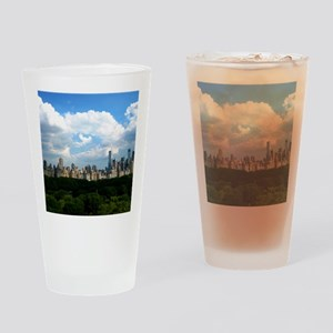 New York Skyline Above Central Park Drinking Glass