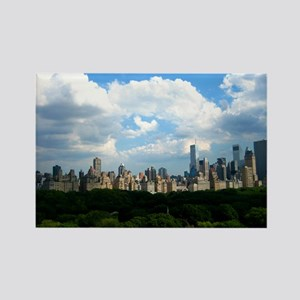 New York Skyline Above Central Pa Rectangle Magnet