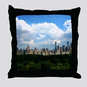 New York Skyline Above Central Park Throw Pillow