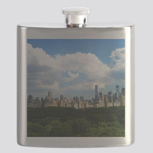 New York Skyline Above Central Park Flask
