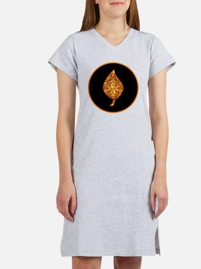 GoldleafLeafBr Women's Nightshirt
