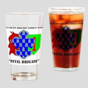 1st Heavy Brigade Combat Team - Dev Drinking Glass