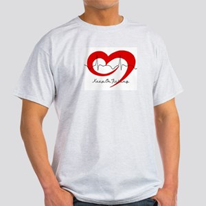 Heart Health - Keep On Tickin Ash Grey T-Shirt