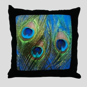 fish eye blue stadium Throw Pillow