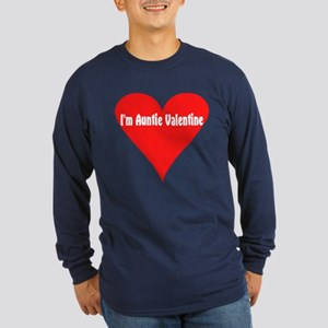 I'm Auntie Valentine Long Sleeve Dark T-Shirt