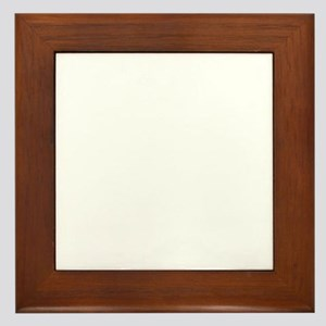 ScienceIsAwesome_white Framed Tile