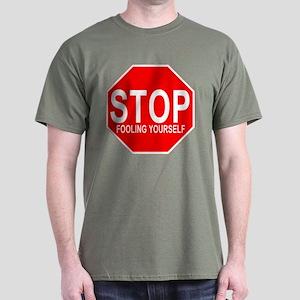 Stop Fooling Yourself Anti-Va Dark T-Shirt