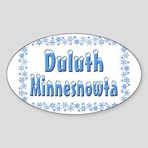 DuluthMinnesnowta Sticker (Oval)