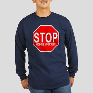 STOP Kidding Yourself Anti-Va Long Sleeve Dark T-S