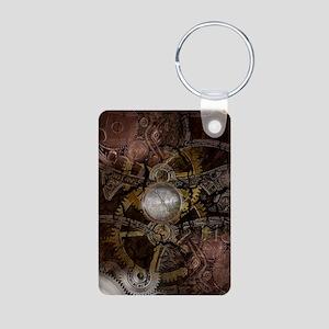 Steampunk Clockwork 2 Aluminum Photo Keychain