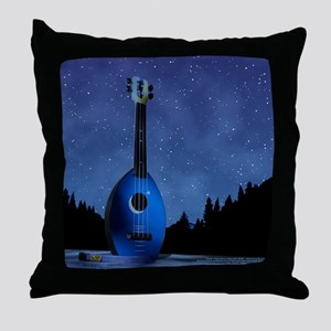 Camp Flea Ukulele Throw Pillow