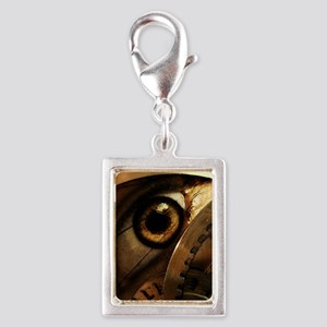 Eye of the Beholder Silver Portrait Charm