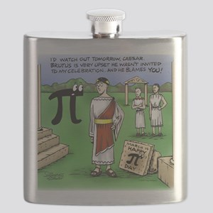 Pi_48 Caesar Ides of March (17.5x11.5 Color) Flask