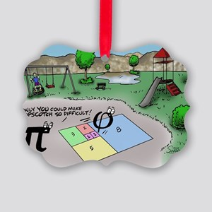 Pi_65 Fibonacci Hopscotch (17.5x1 Picture Ornament