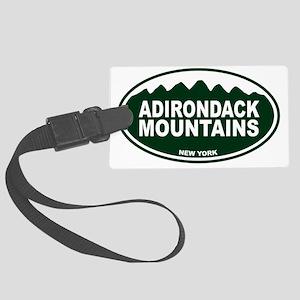 Adirondack Mountains Oval Large Luggage Tag