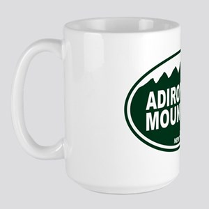 Adirondack Mountains Oval Large Mug