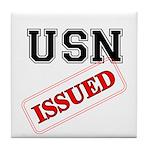 USN Issued Tile Coaster