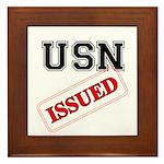 USN Issued Framed Tile