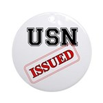 USN Issued Ornament (Round)