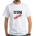 USN Issued White T-Shirt