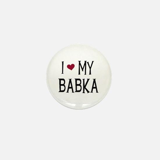I Love My Babka Mini Button