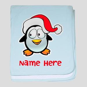 Penguin Santa baby blanket