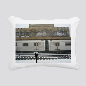 Brooklyn Snow Rectangular Canvas Pillow