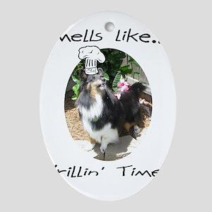 Cali grill Oval Ornament