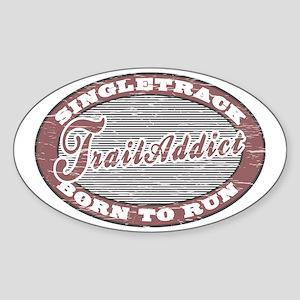 TraillAddict_RunnerG Sticker (Oval)