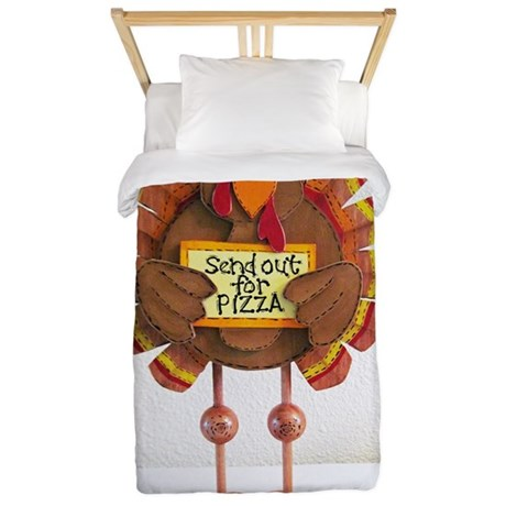 PLEASE Send out for pizza ! Twin Duvet