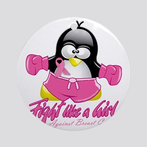 BC-Fighting-Penguin Round Ornament
