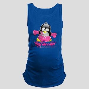 BC-Fighting-Penguin Maternity Tank Top
