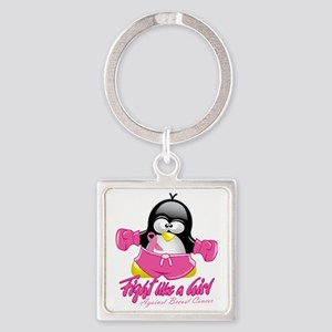BC-Fighting-Penguin Square Keychain