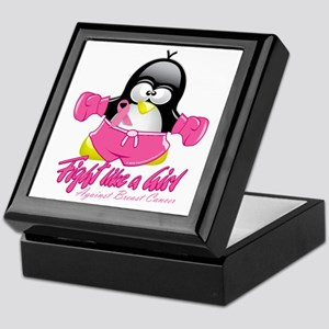 BC-Fighting-Penguin Keepsake Box